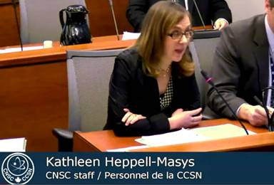 Image featuring Kathleen Heppell-Masys CNSC Staff