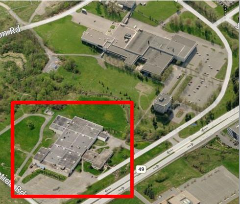 This picture shows an aerial view of the Best Theratronics Ltd. facility in Ottawa, ON